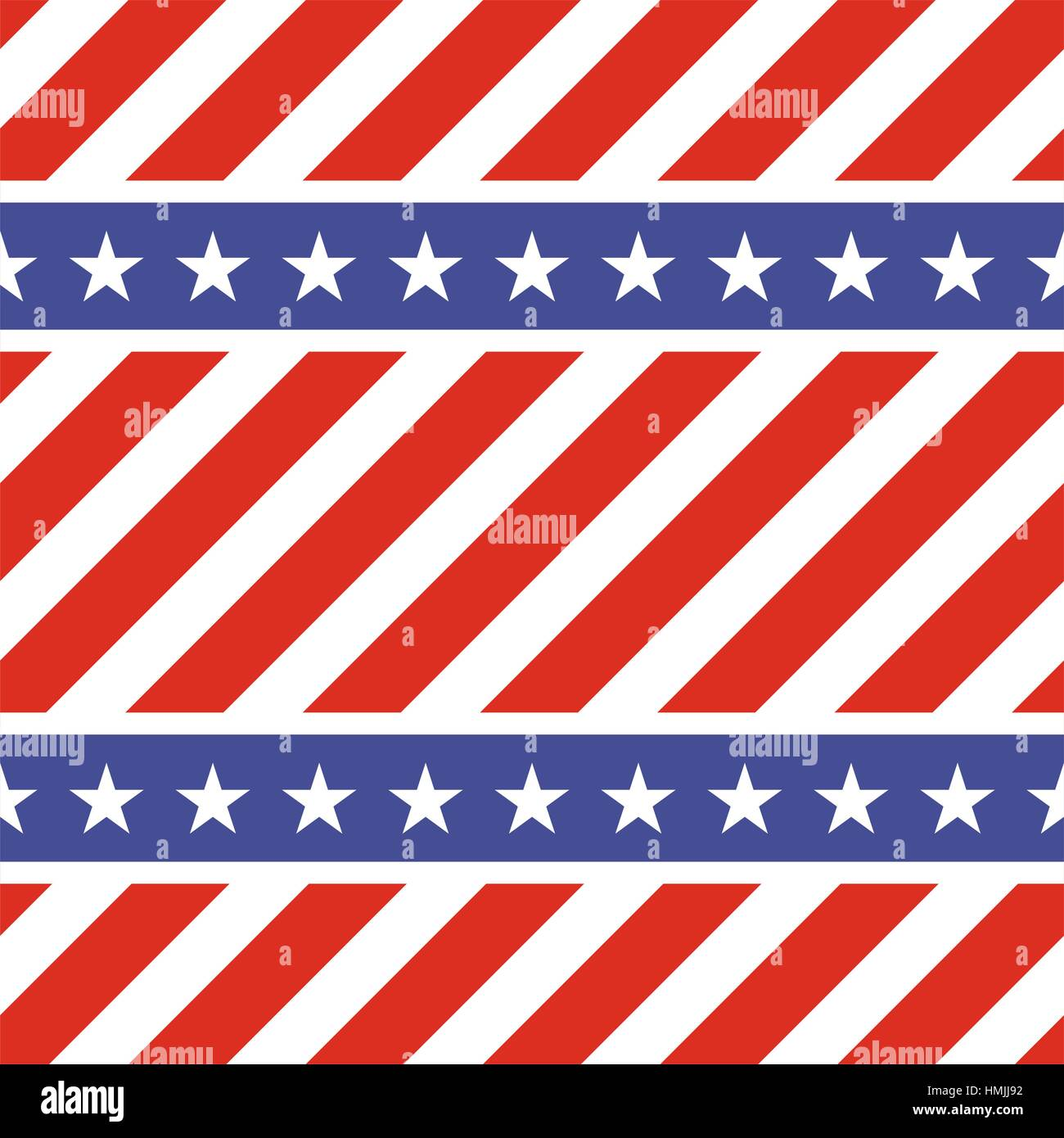 Patriotic usa seamless pattern american flag symbols and colors american flag symbols and colors background for 4th july usa independence day stars on blue and diagonal red and whi biocorpaavc
