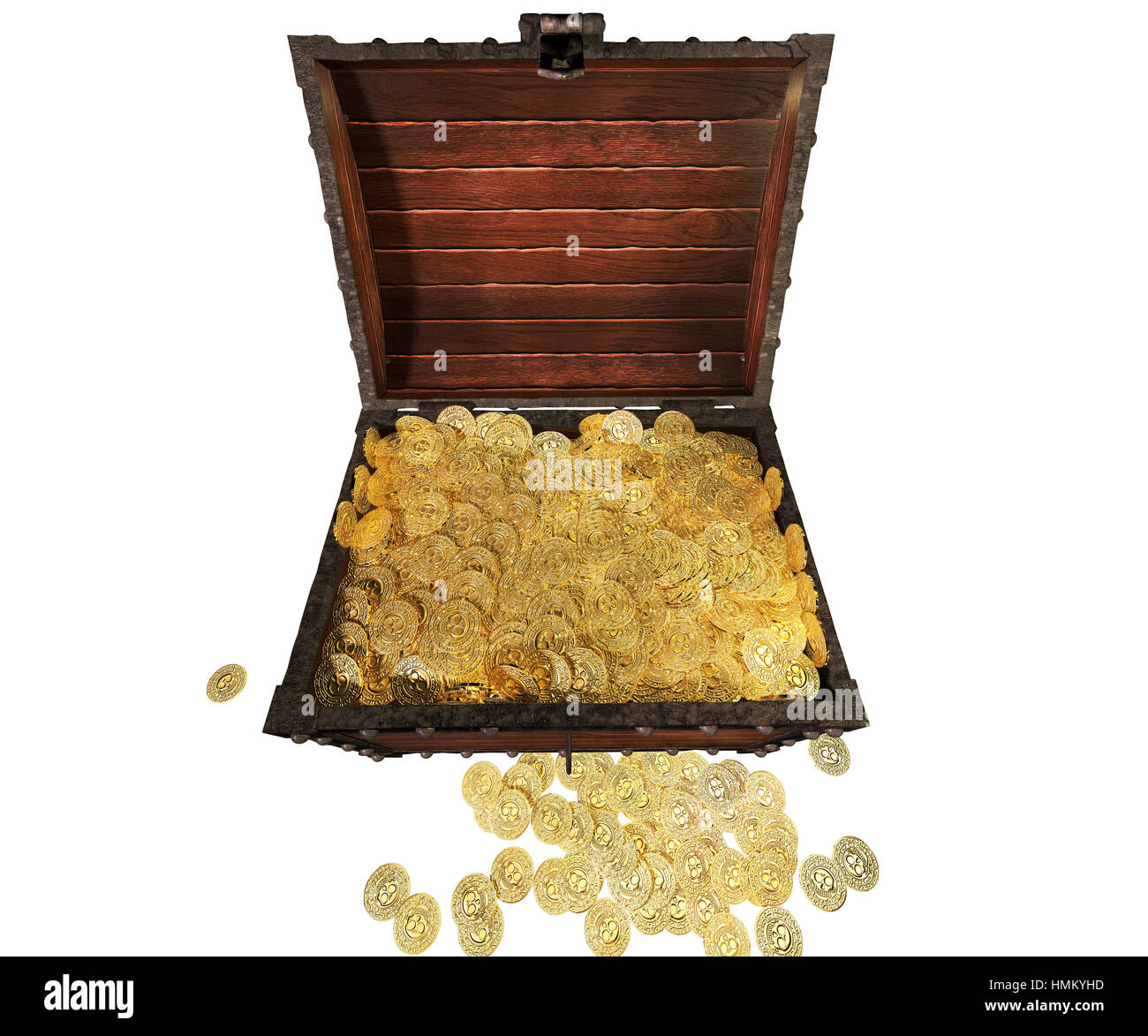 pirate treasure chest 3d render stock photo royalty free image
