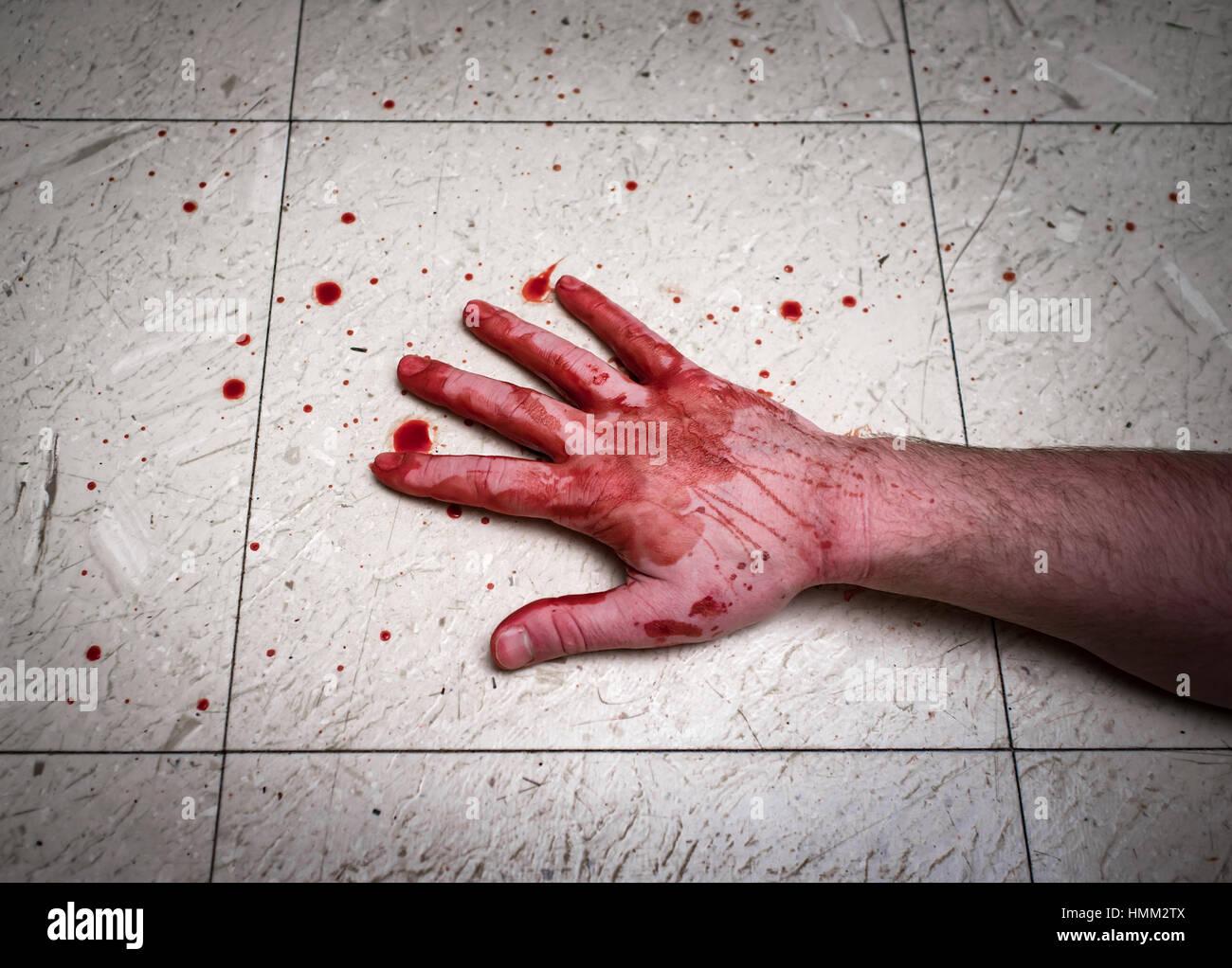 Blood Splatter On Floor