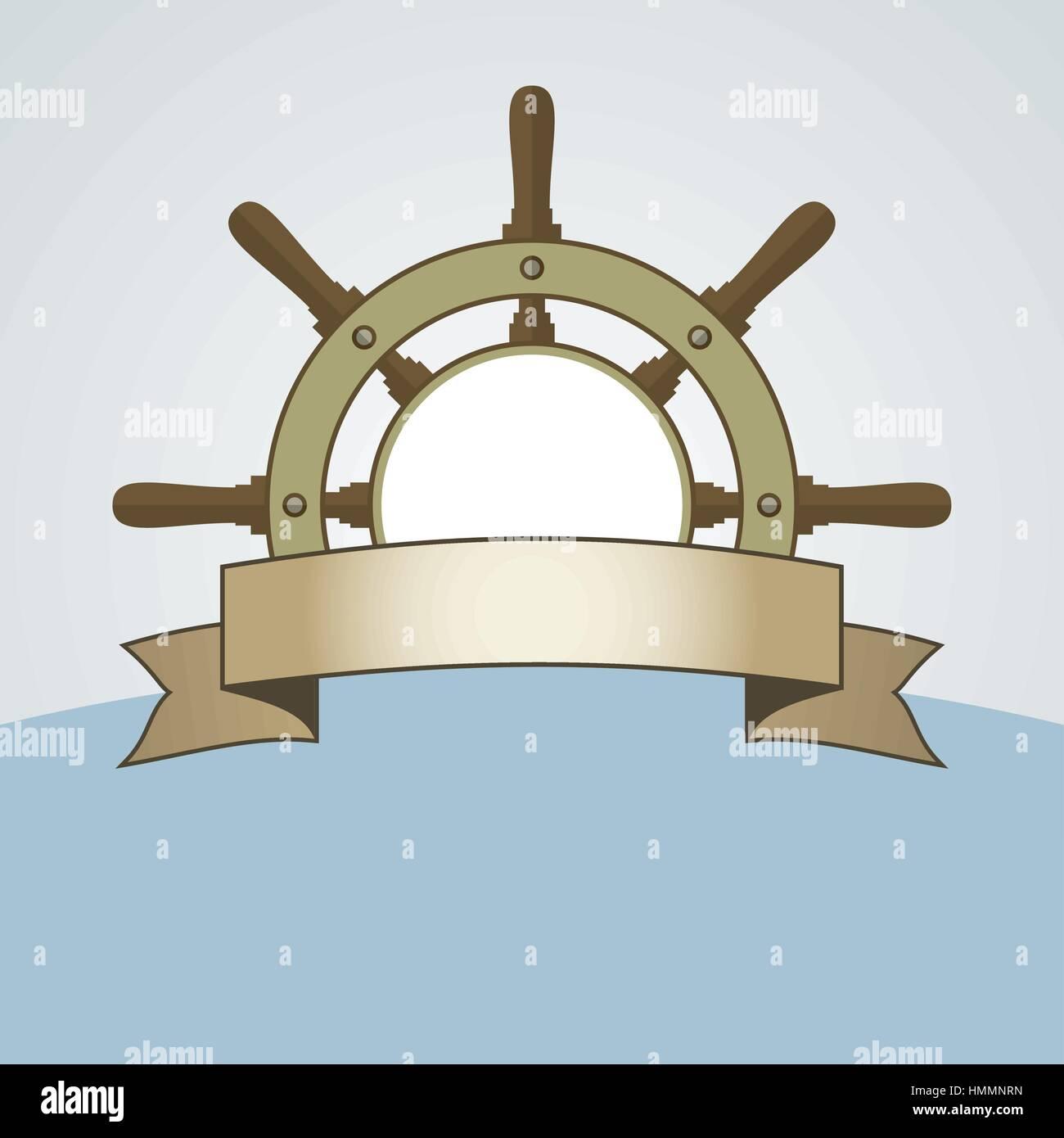 Ship helm vector background helm steering wheel with banner and ship helm vector background helm steering wheel with banner and blank space for your text steering wheel symbol background ship helm vector sign w buycottarizona