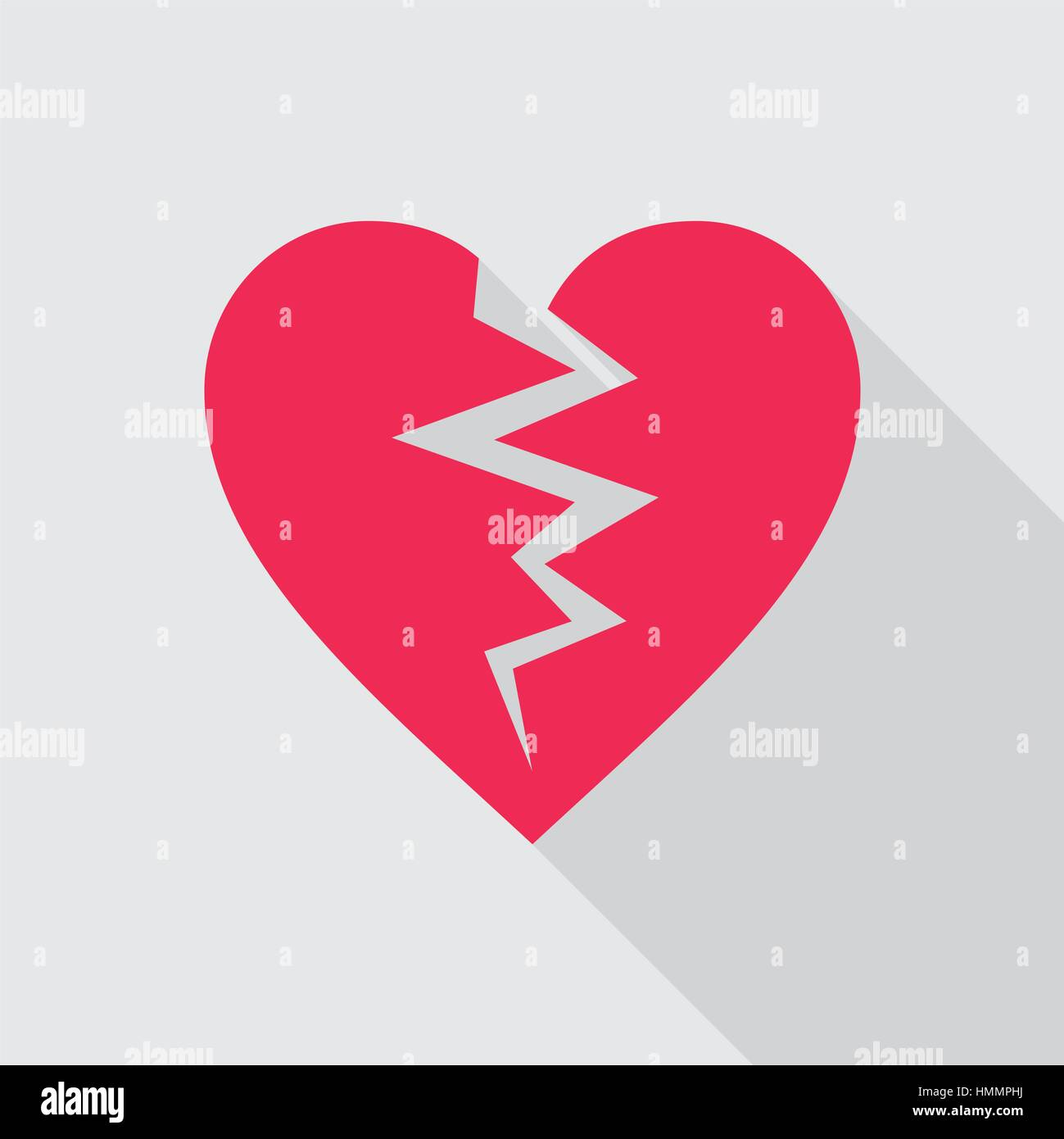 Red broken heart flat icon on gray background symbol of cracked red broken heart flat icon on gray background symbol of cracked heart vector illustration in eps8 format buycottarizona