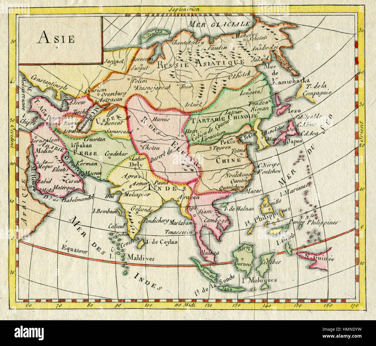 Antique map of asia shows india russia japan 1750 stock photo antique map of asia shows india russia japan 1750 gumiabroncs Choice Image
