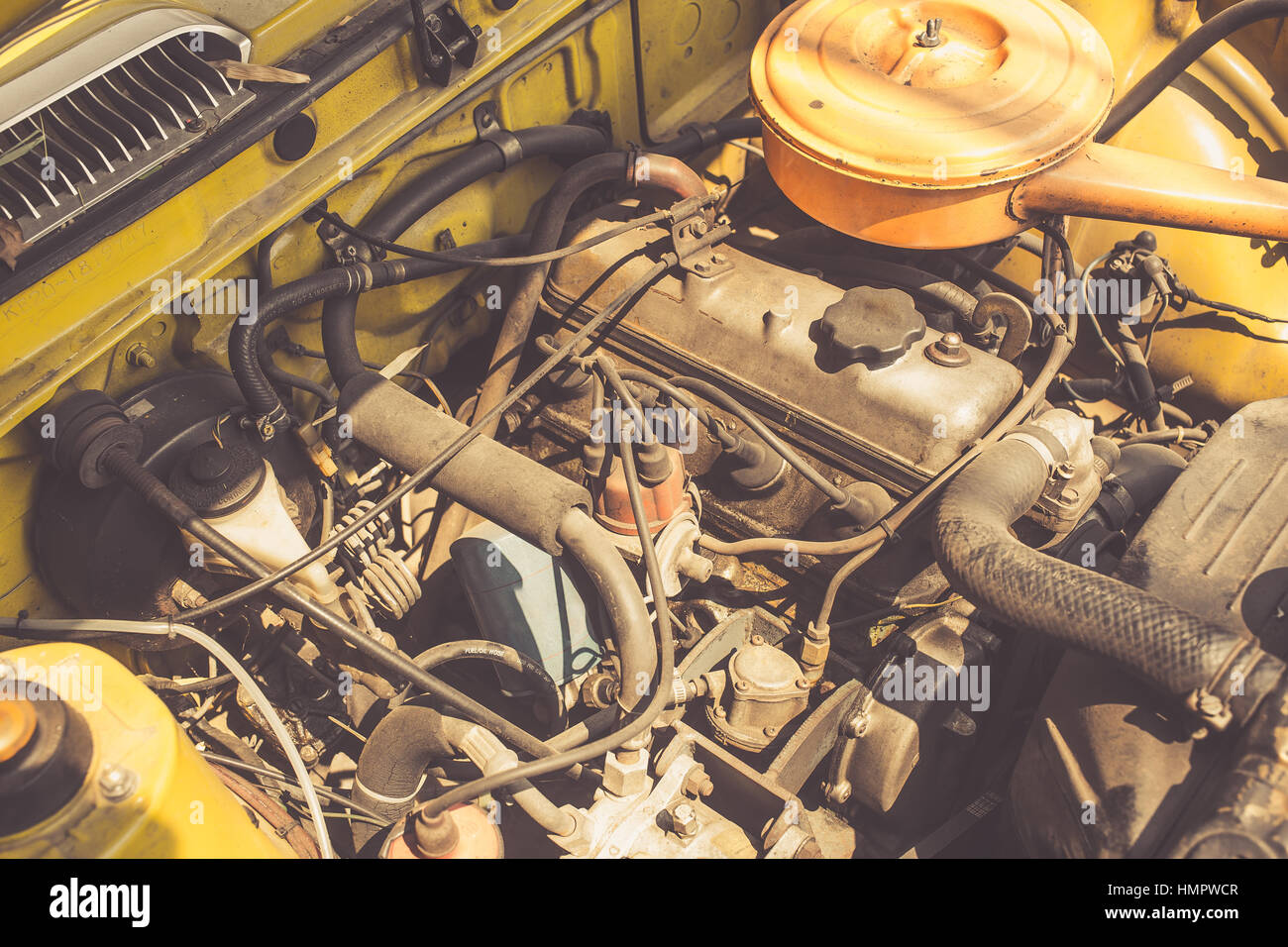 old car engine vintage color tone Stock Photo: 133268599 - Alamy