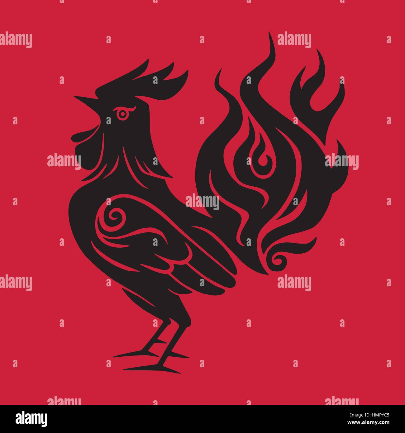 Fire rooster chinese new year black symbol 2017 red background fire rooster chinese new year black symbol 2017 red background biocorpaavc