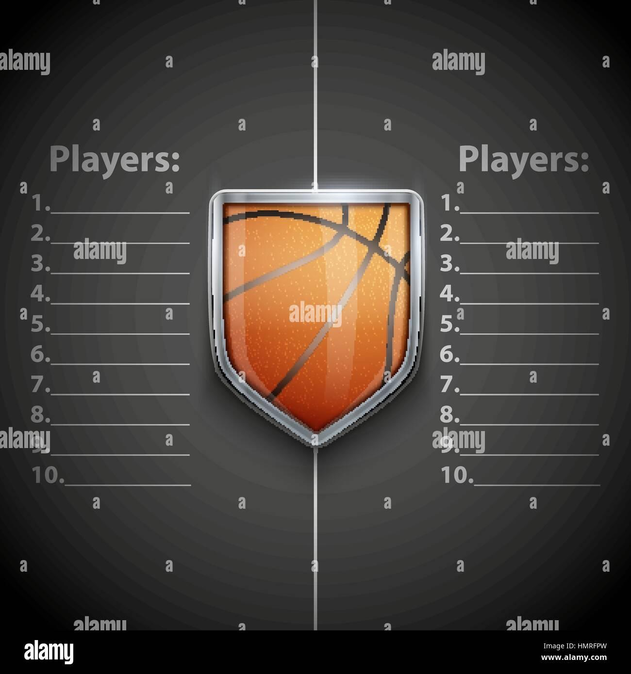 Sport Tournament Template. fillable tournament brackets. vector ...