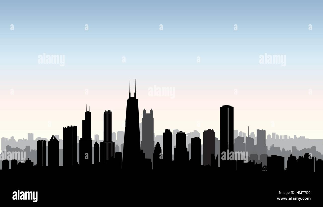 Outline athens skyline with blue buildings and copy space stock vector - Chicago City Buildings Silhouette Usa Urban Landscape American Cityscape With Landmarks Travel Usa