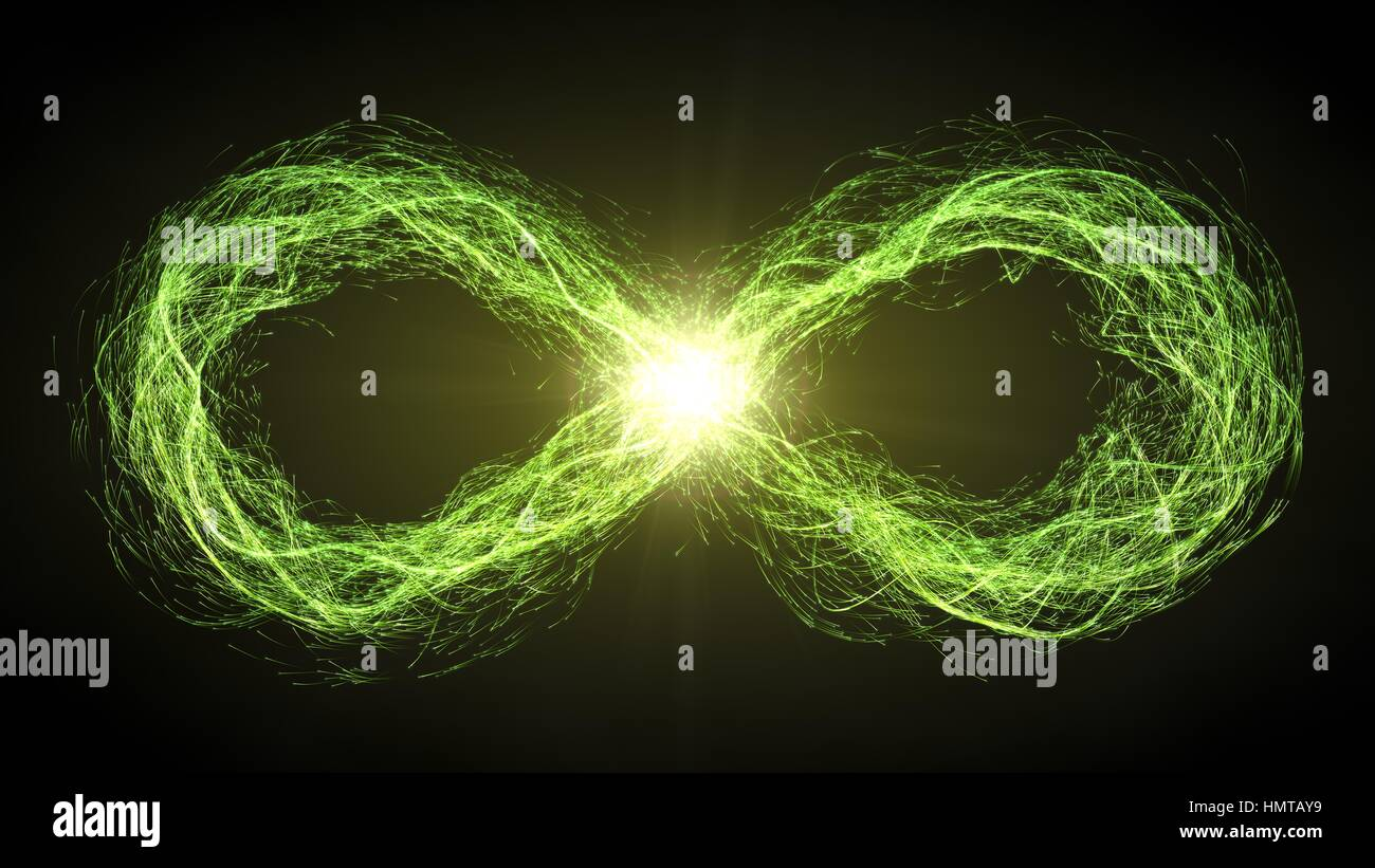 Endless loop of moving energy particles infinity symbol with endless loop of moving energy particles infinity symbol with energy trails green version biocorpaavc