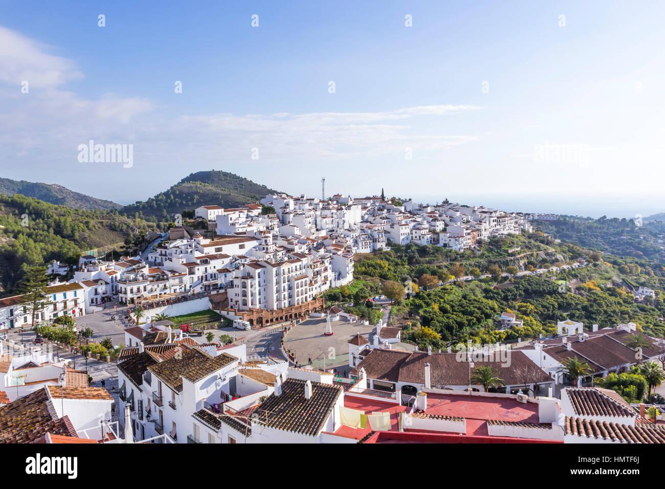 Frigiliana Malaga Province Andalusia Southern Spain Overall