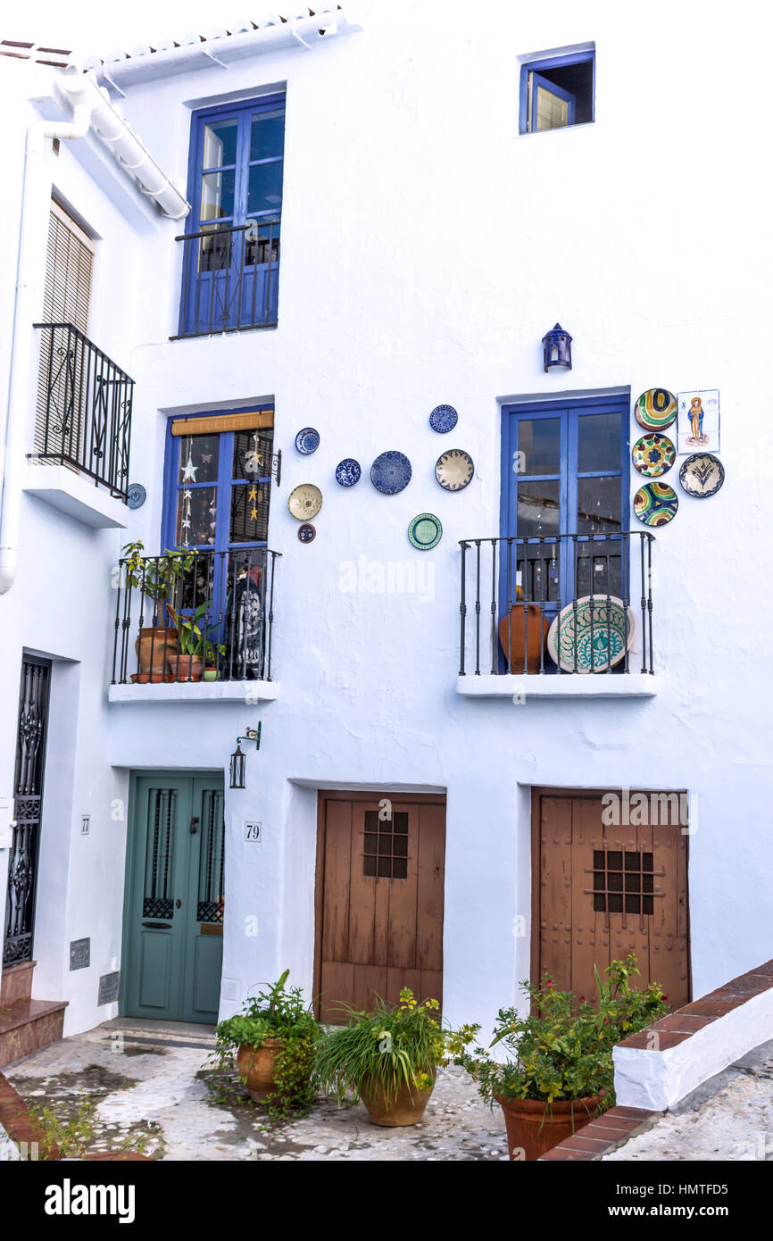Frigiliana Malaga Province Andalusia Southern Spain Patio  # Muebles Mogar Malaga