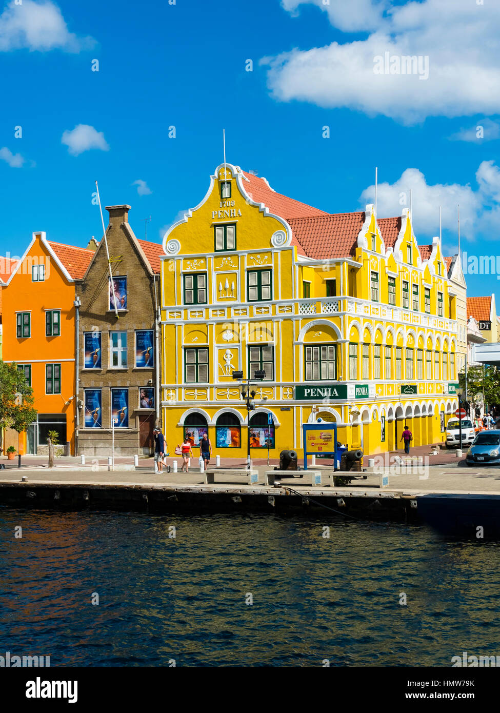 Historic Buildings In Dutch Caribbean Colonial Style Waterfront Willemstad Lesser Antilles Curacao
