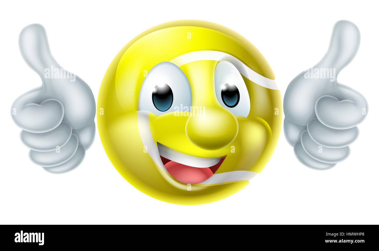 Tennis ball mascot stock photos tennis ball mascot stock photography -  Stock Photo A Happy Cartoon Tennis Ball Man Mascot Character Doing A Double Thumbs Up