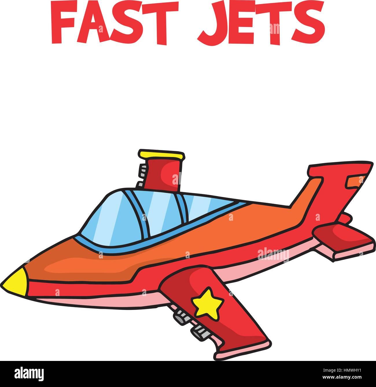 transport of fast jets cartoon stock vector art illustration rh alamy com cartoon jetsons dog jet ski cartoon