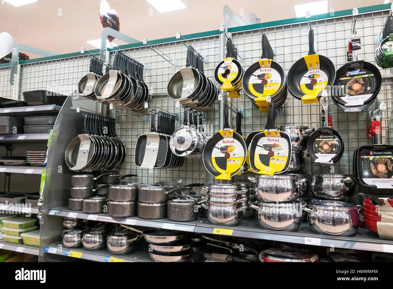 Morrisons Kitchen Appliances Kitchen Utensils Display Store Stock Photos Kitchen Utensils