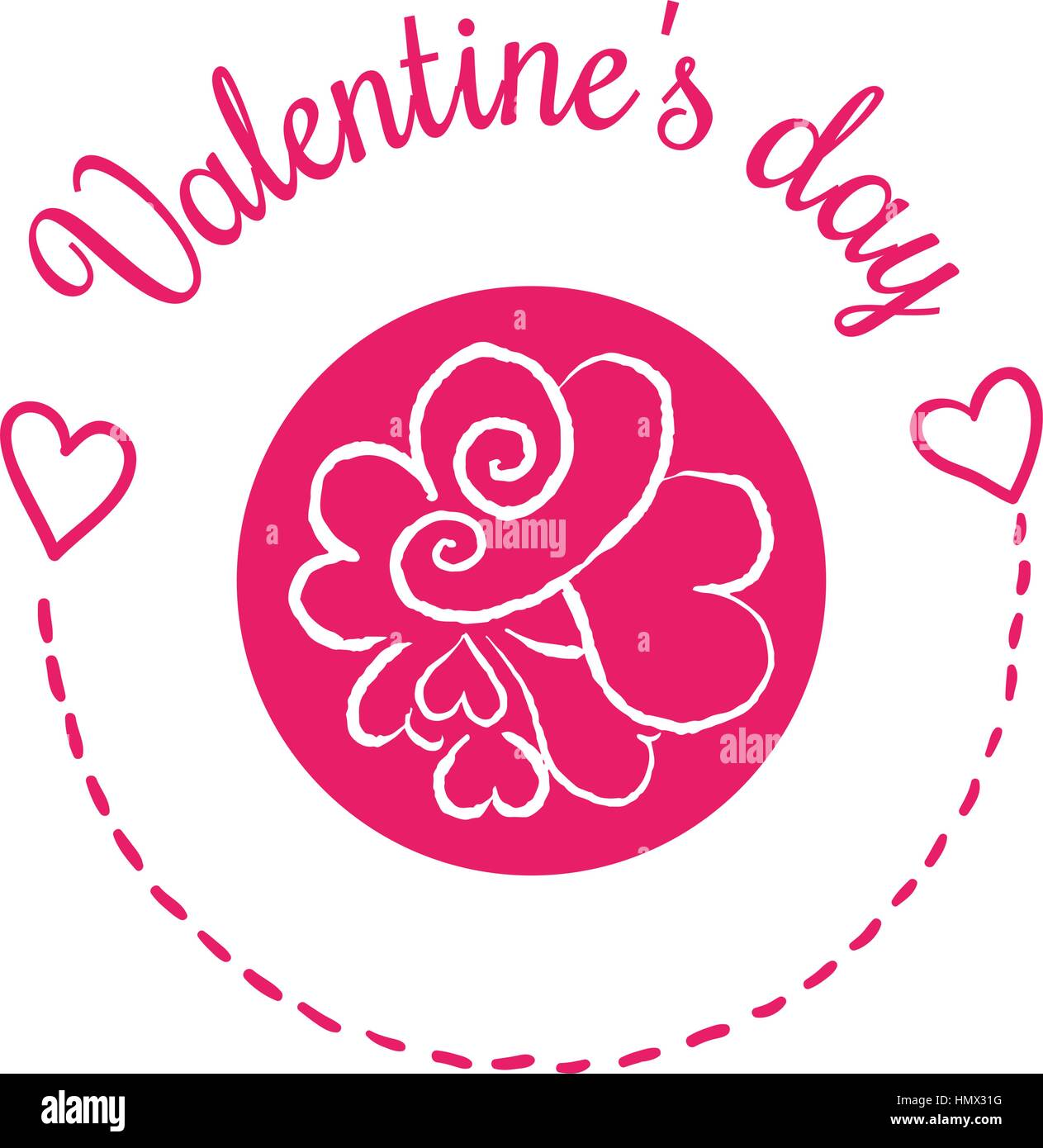St Valentines day vector design element. Suitable for party Stock ...