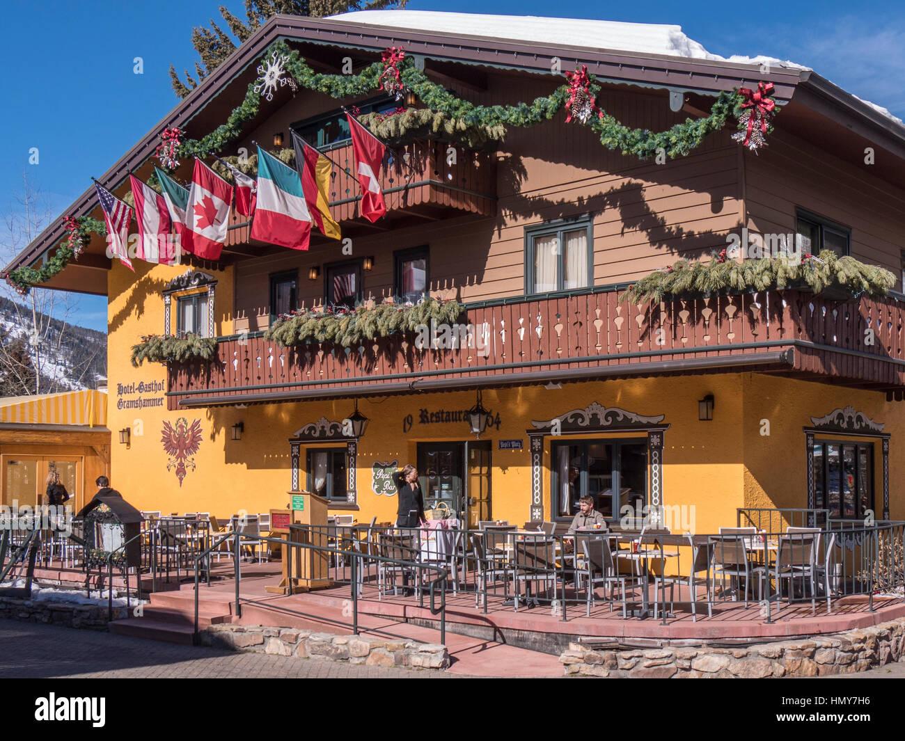 Hotel gasthof gramshammer vail village winter vail ski resort vail colorado