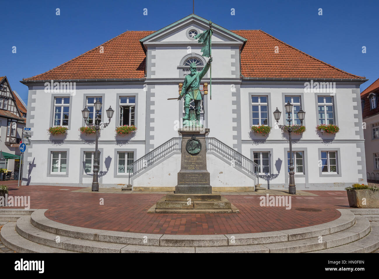 City Hall On The Market Square In Quakenbruck Germany Stock Photo - Quakenbruck germany map