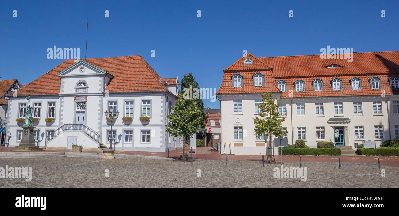 Panorama Of The Central Market Square In Quakenbruck Germany - Quakenbruck germany map