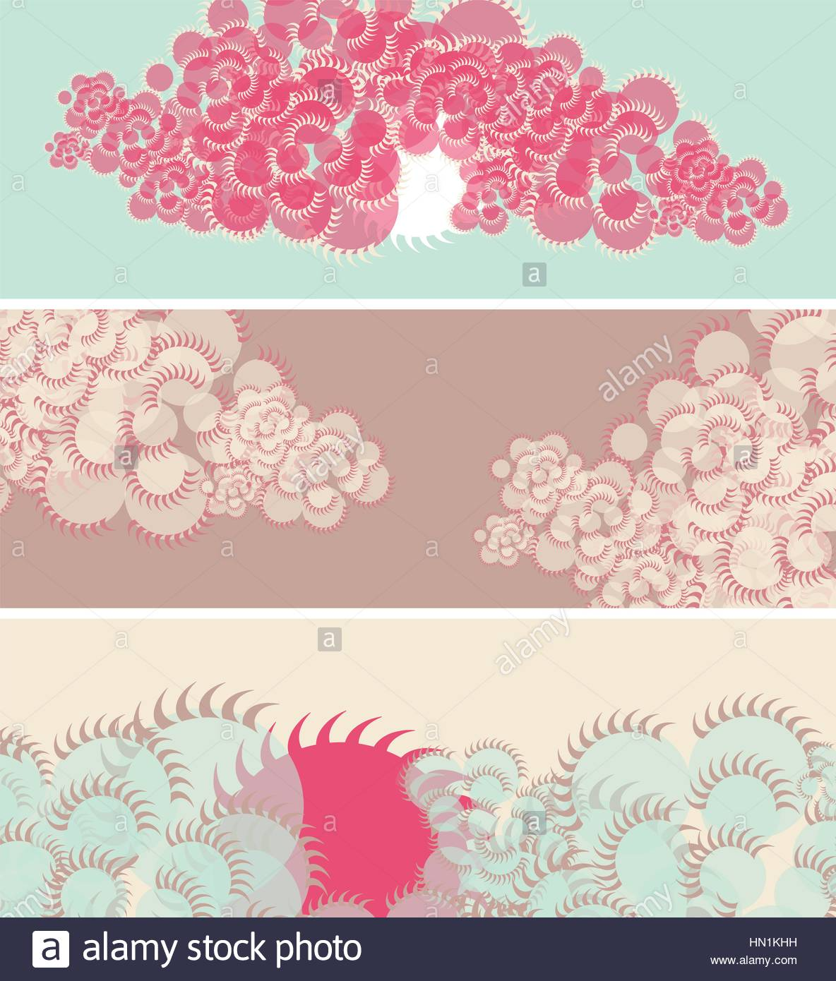 set of banners with sun and clouds in japanese style in blue and stock vector set of banners with sun and clouds in japanese style in blue and pink shades