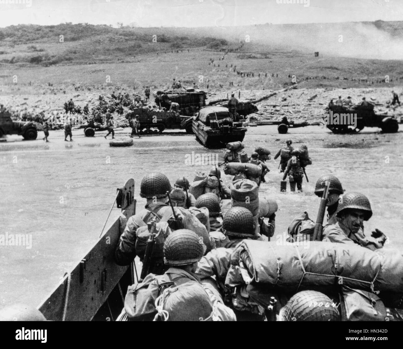 Normandy, France, June 6, 1944. D-Day, the Allied soldiers ...