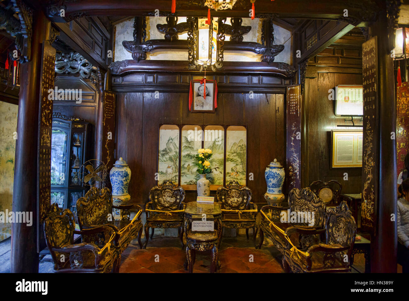 Interior Of The Old House Of Tan Ky, A Heritage House In Hoi An, Vietnam