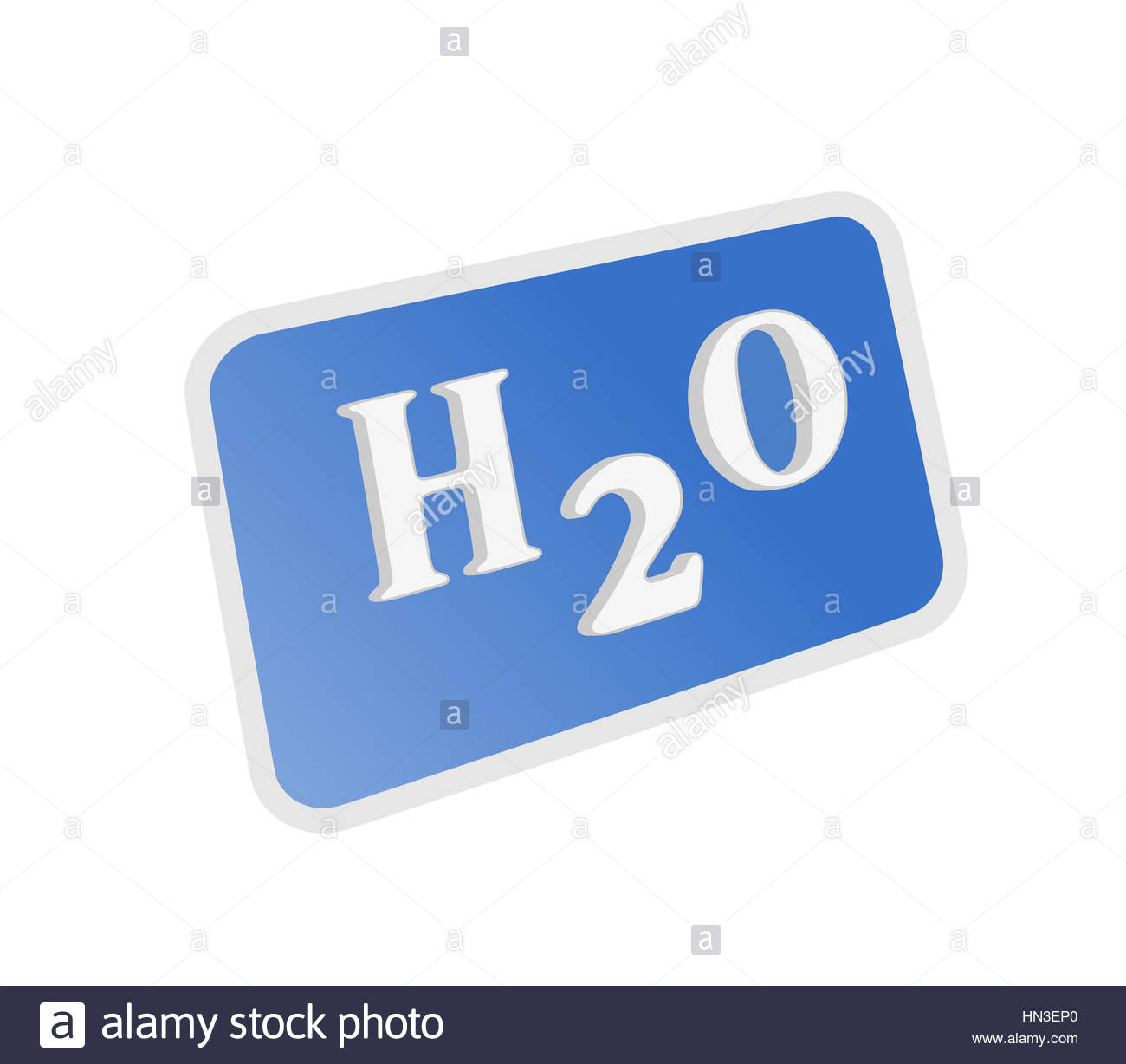 H2o water chemical formula illustration on white background stock h2o water chemical formula illustration on white background buycottarizona Choice Image