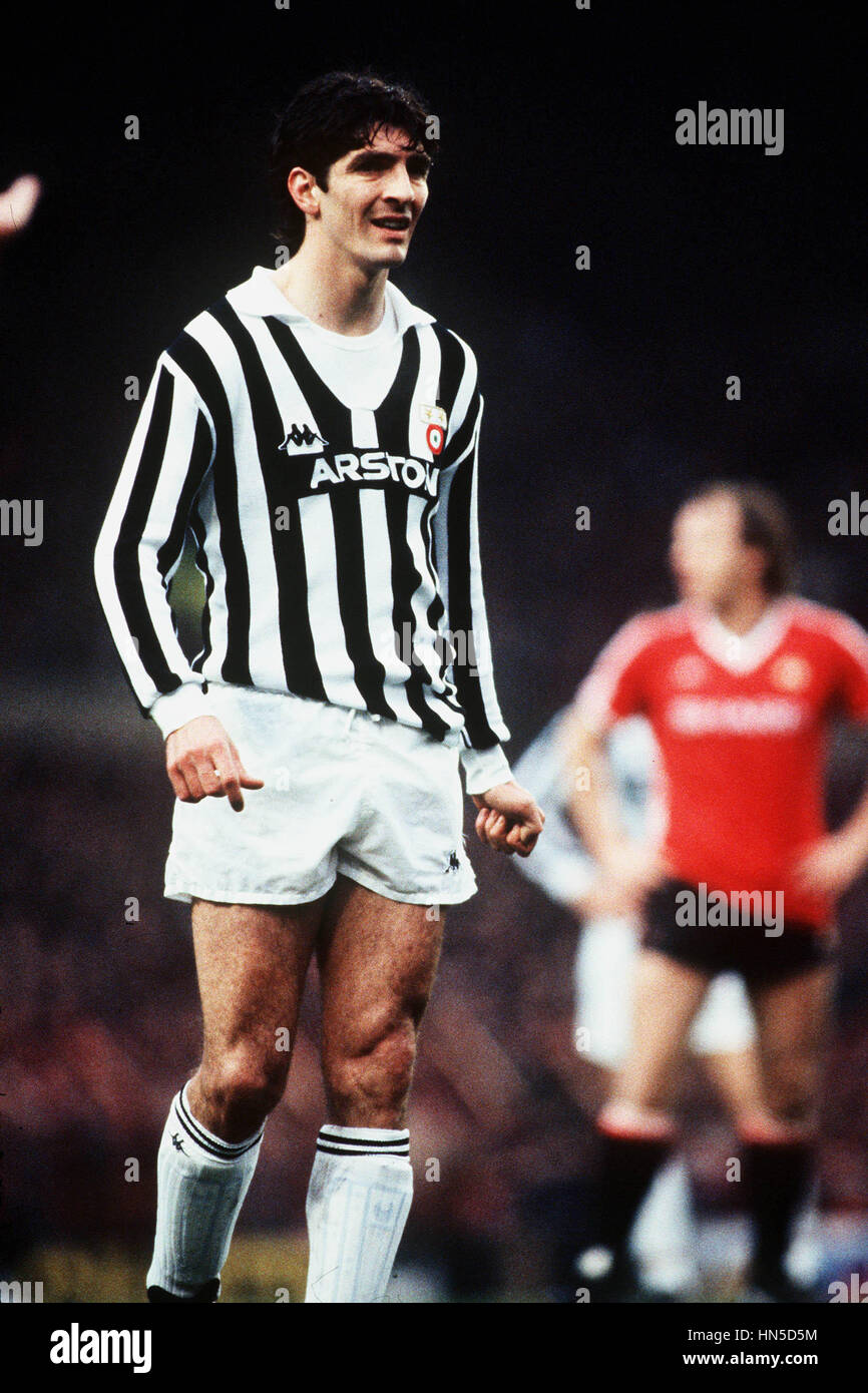 PAOLO ROSSI JUVENTUS 01 March 1984 Stock Royalty Free Image