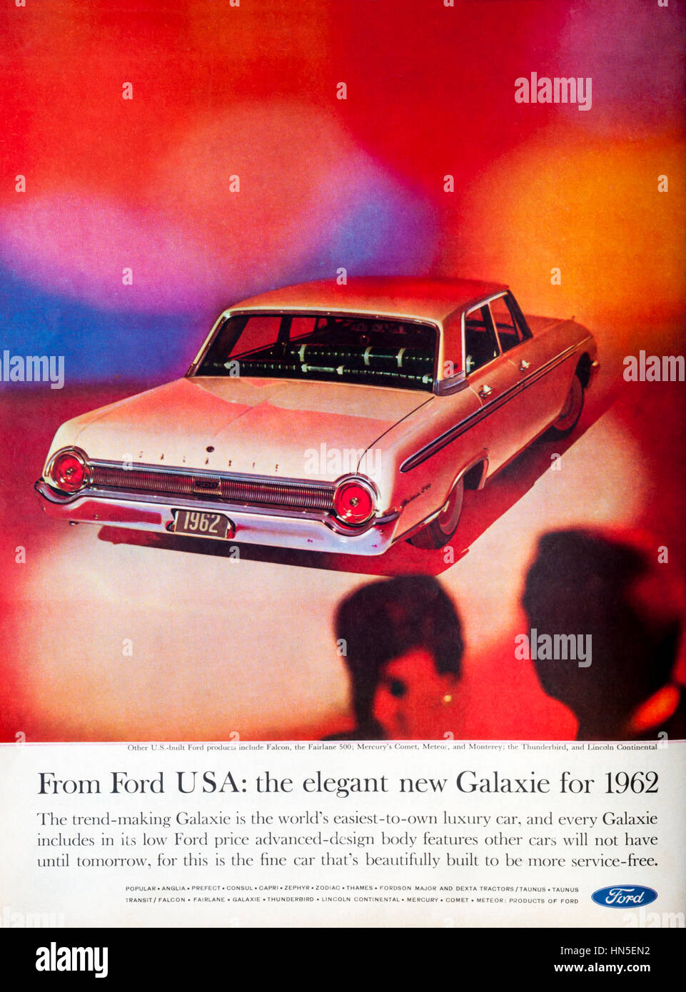 1960s magazine advert for Ford cars Stock Photo, Royalty Free ...