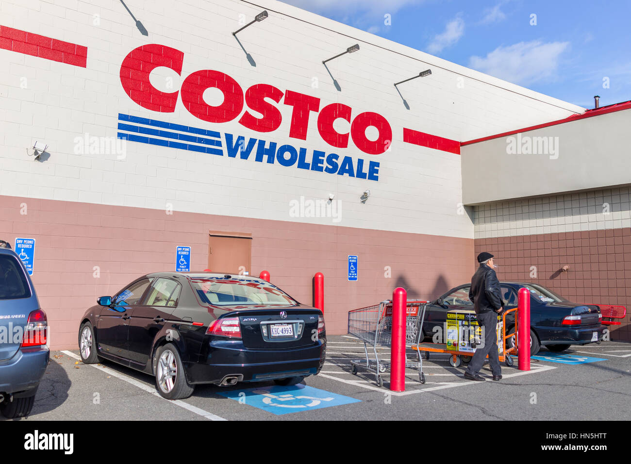 fairfax usa costco whole sign on store in fairfax usa 3 2016 costco whole sign on store in virginia parked cars and customers walking