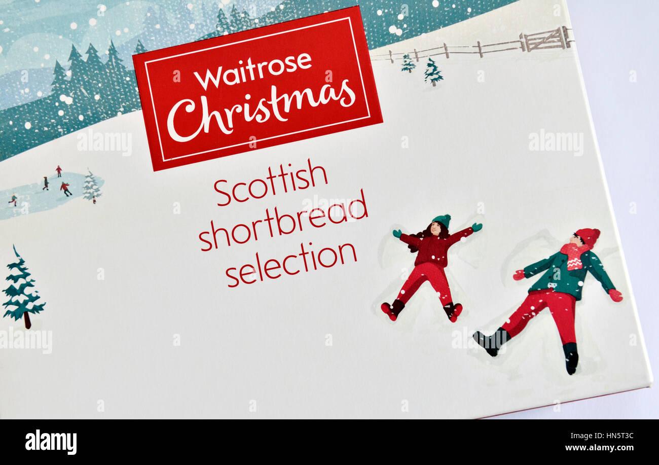 Waitrose Christmas Scottish Shortbread selection packet Stock Photo ...
