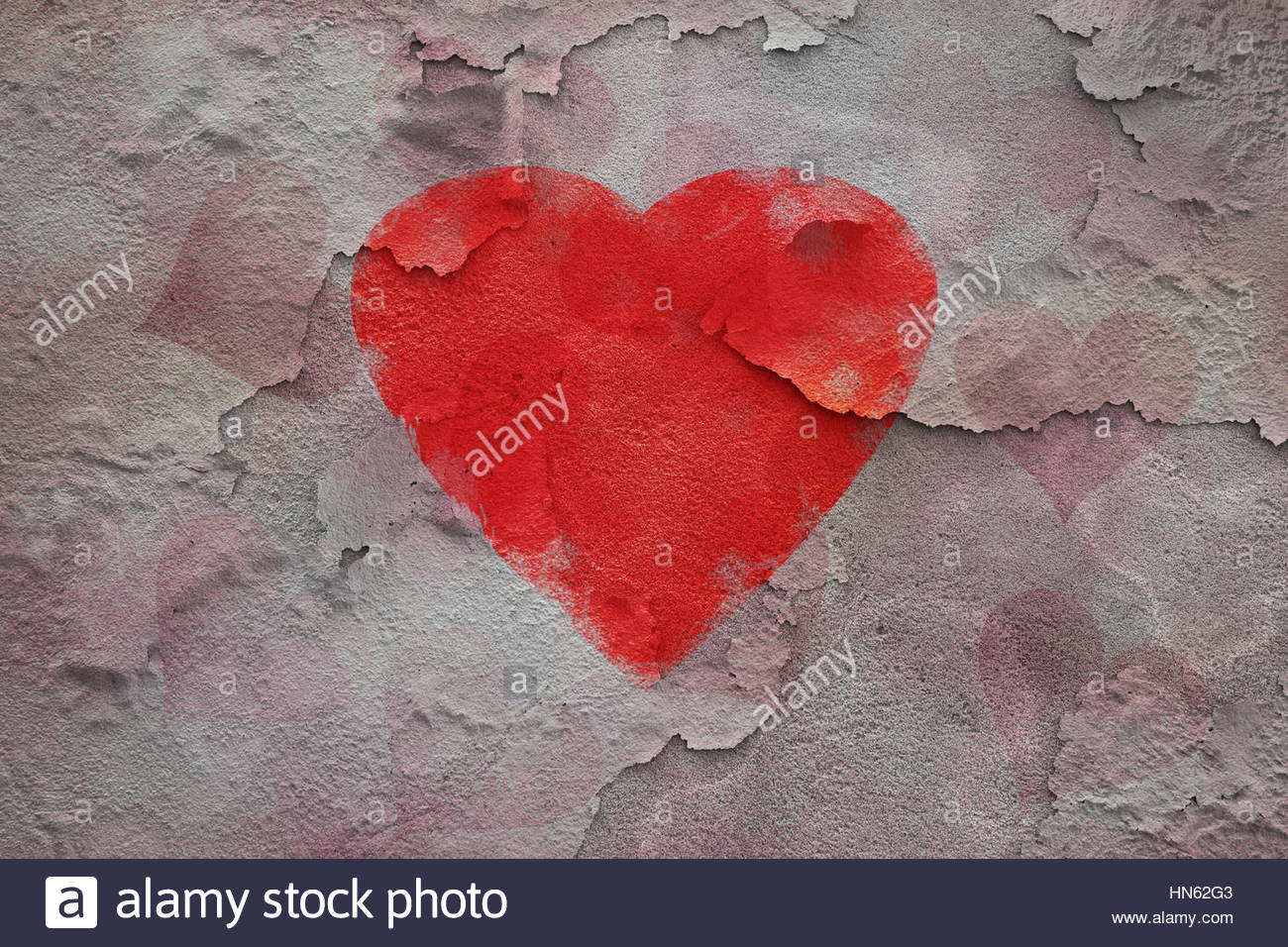 Big red broken heart symbol on textured cracked wall background big red broken heart symbol on textured cracked wall background buycottarizona Image collections