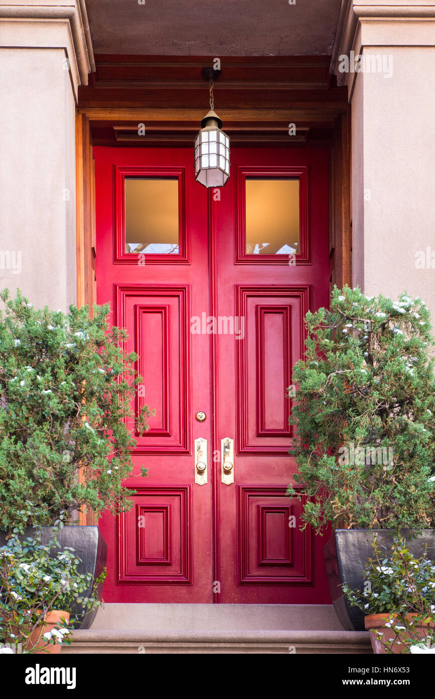 typical entrance door to a new york city apartment building stock photo royalty free image. Black Bedroom Furniture Sets. Home Design Ideas