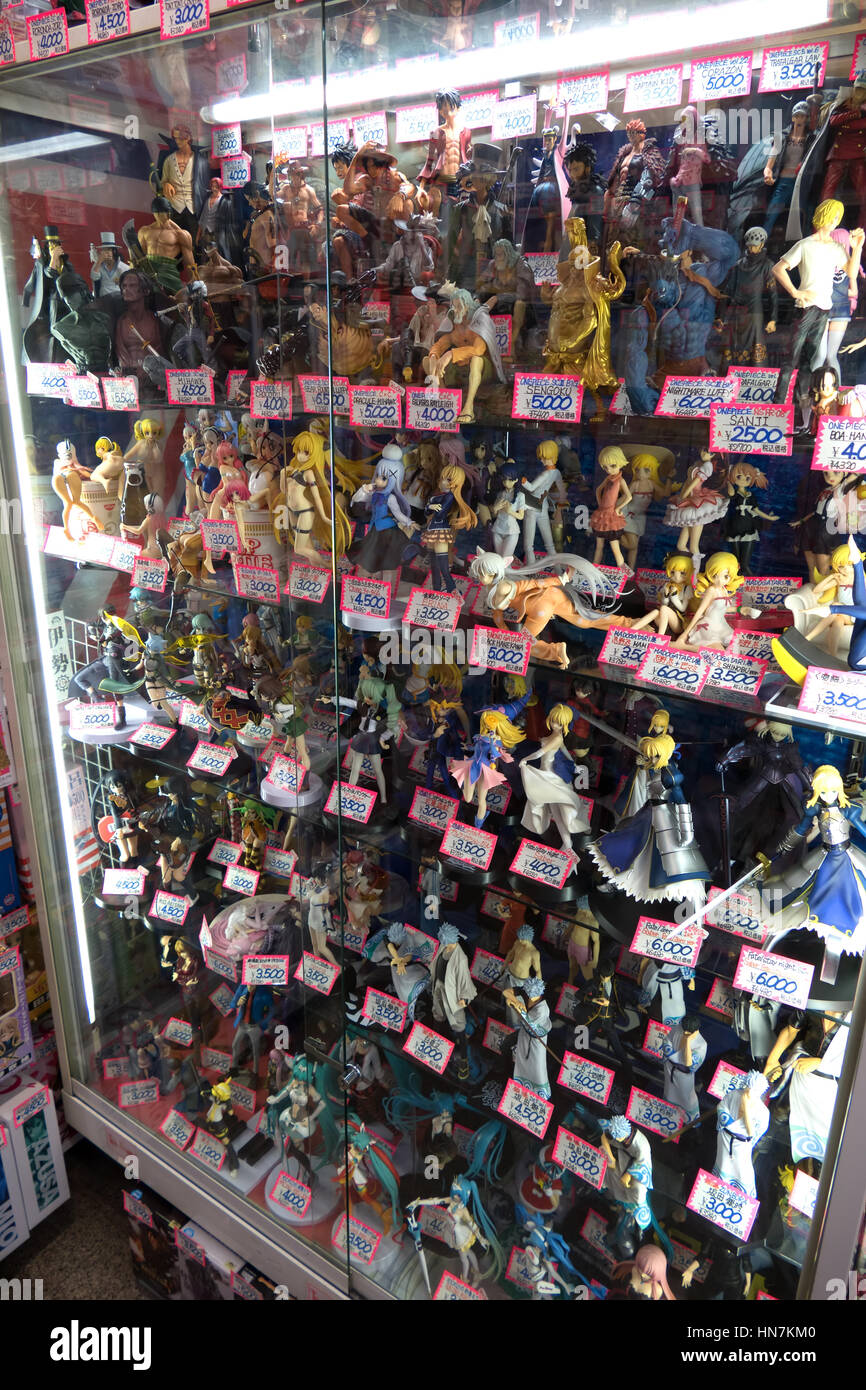 Shop Store Selling Toys And Dolls In Shopping Mall Kyoto Japan Asia Japanese Culture With Anime Cartoons Manga