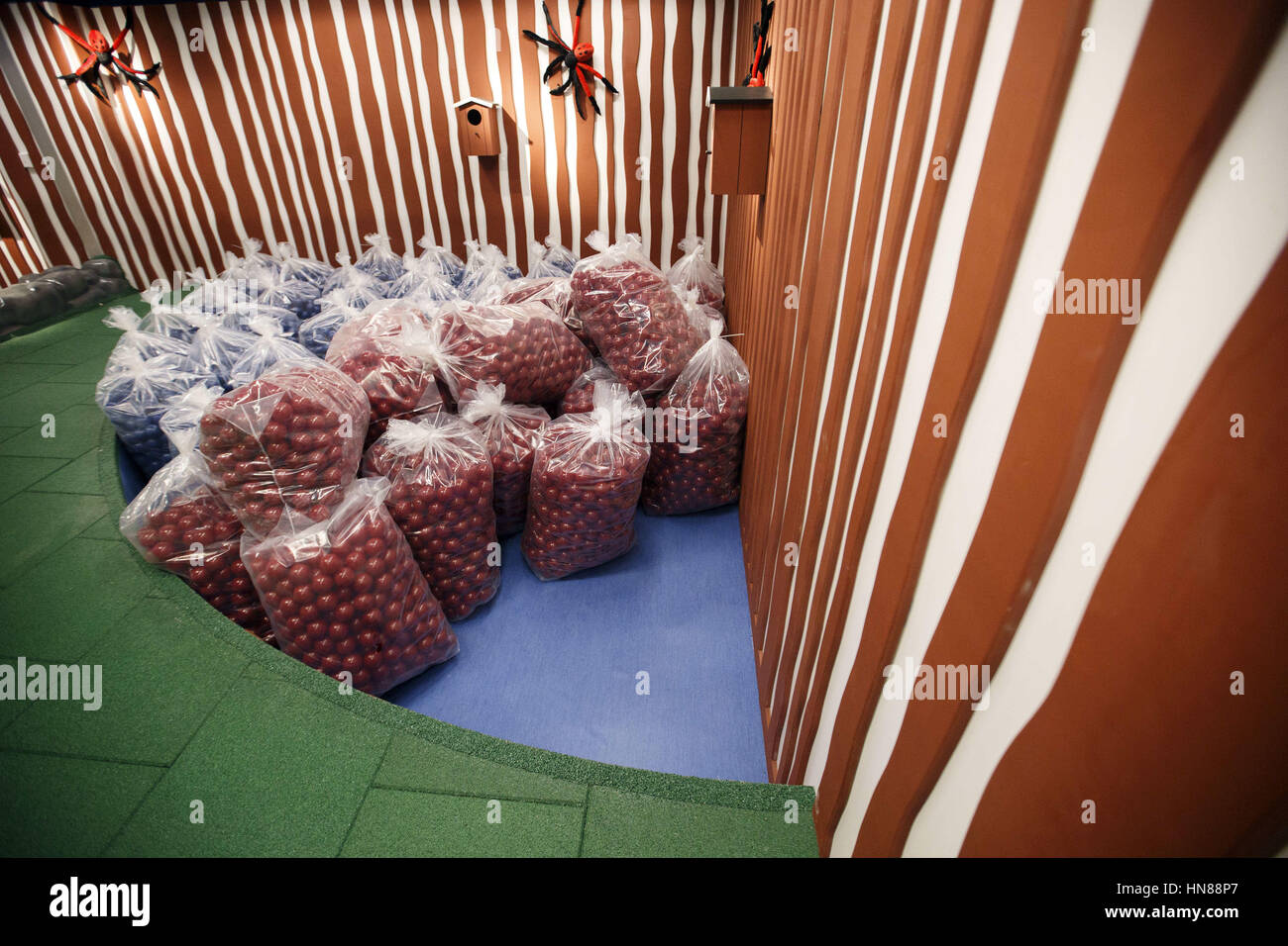 Balls For The Childrenu0027 Play Area Remained Wrapped In Plastic Bags During A  Preview Of The New IKEA Burbank Home Furnishings Store On Wednesday,  February 1, ...