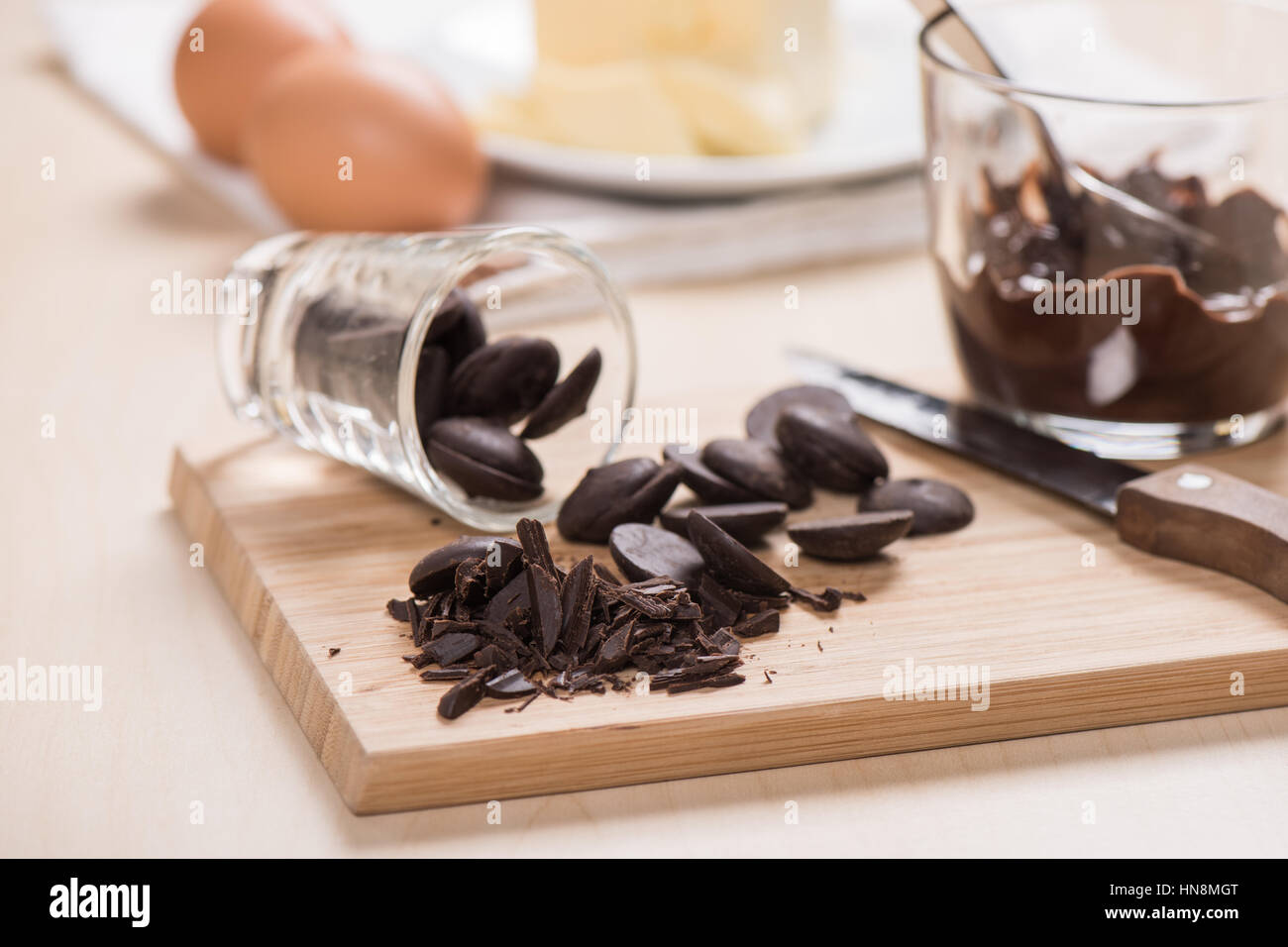 dark couverture chocolate for cooking Stock Photo, Royalty Free ...
