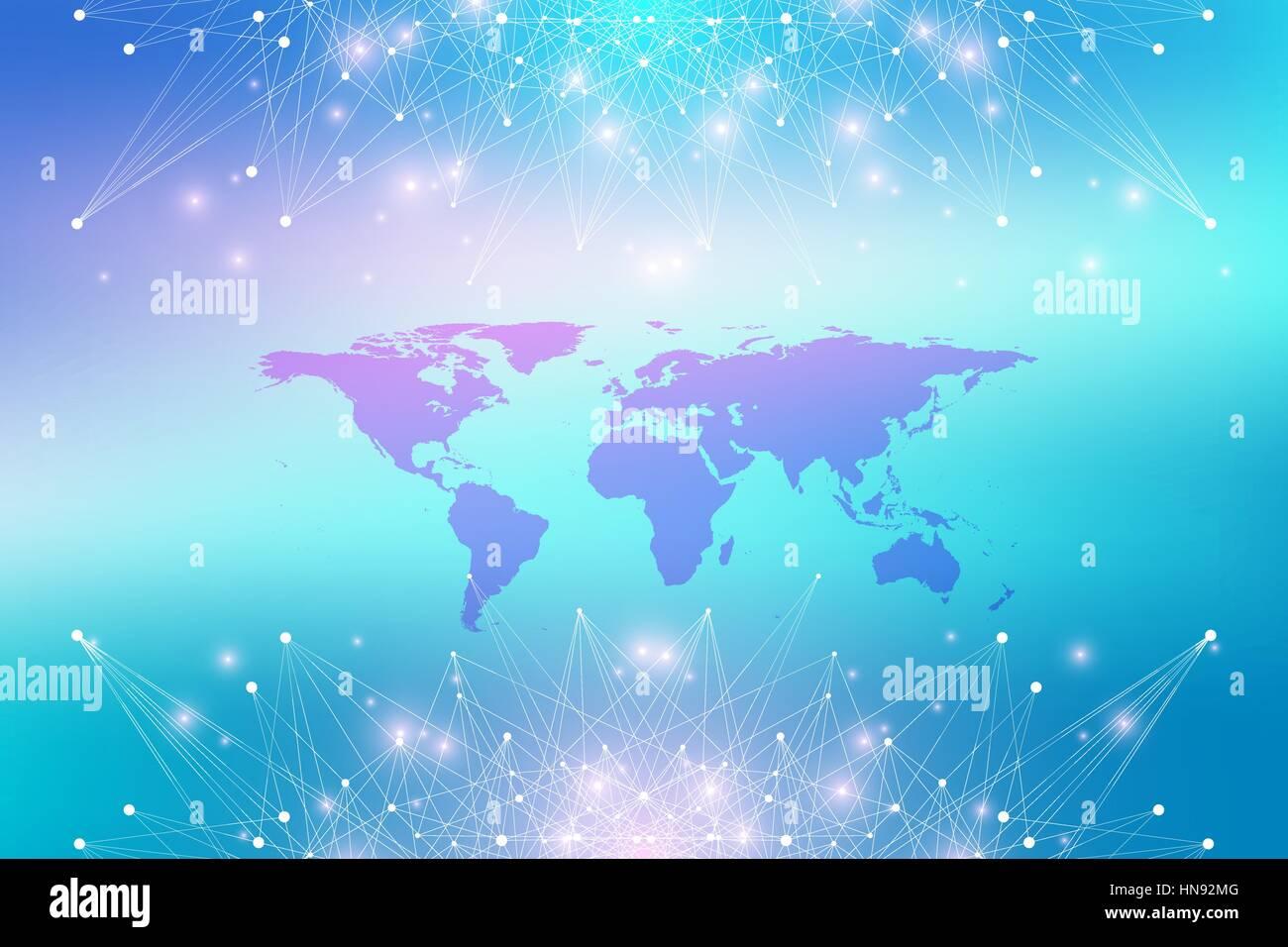 Geometric graphic background communication with world map big geometric graphic background communication with world map big data complex with compounds perspective backdrop minimal array digital data visualization gumiabroncs Gallery