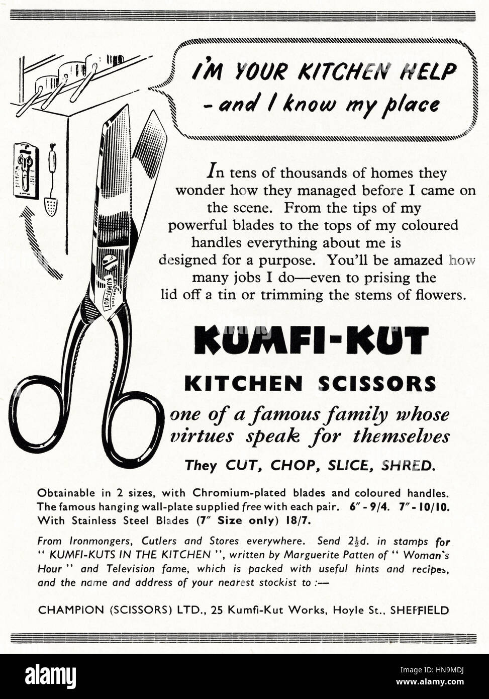1950s advertising advert from original old vintage English ...