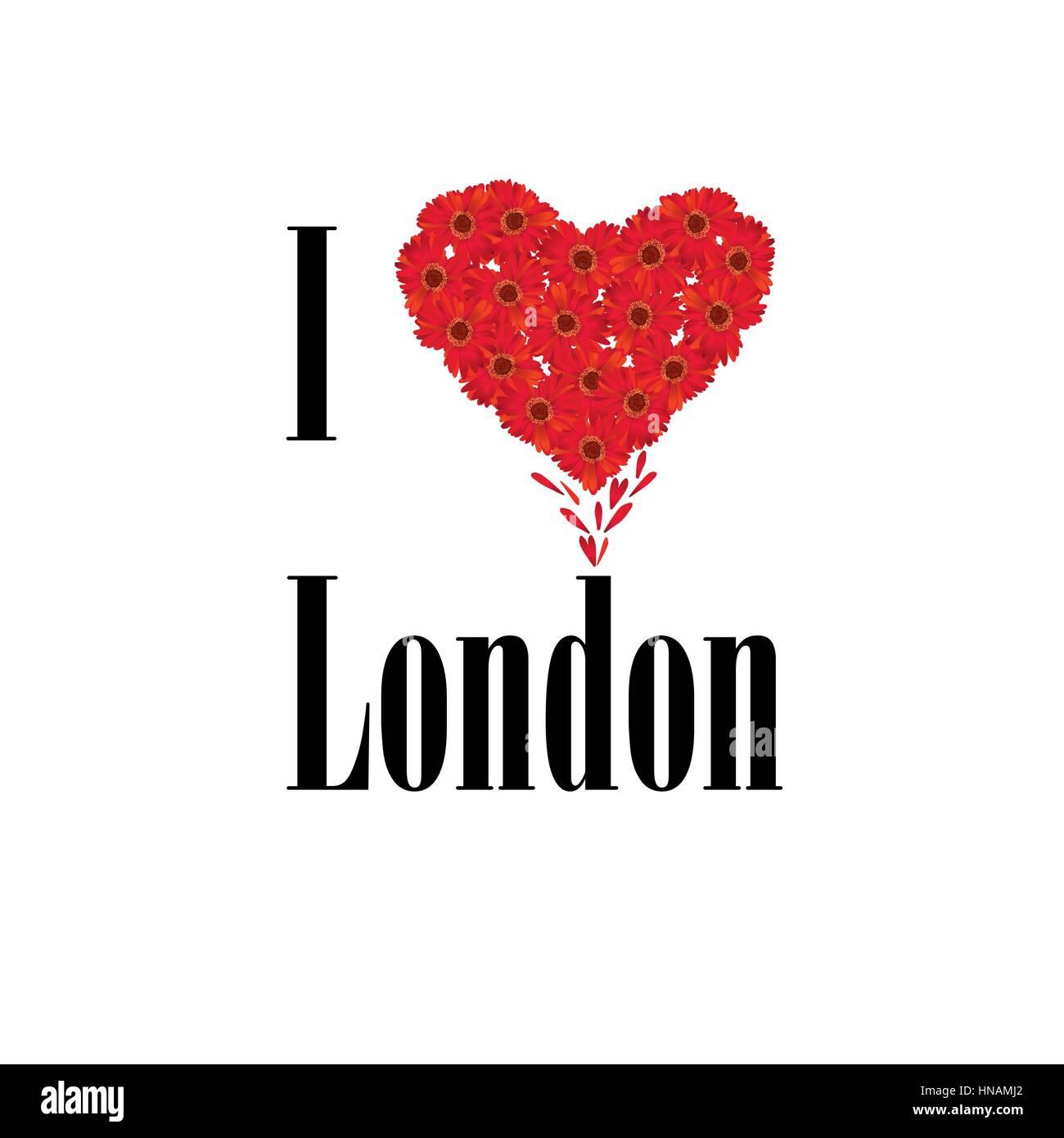 London symbol i love london flower concept vector sign over white london symbol i love london flower concept vector sign over white background england uk buycottarizona