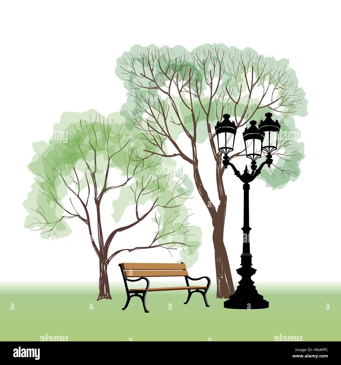 How to Draw a Park Bench  Our Pastimes