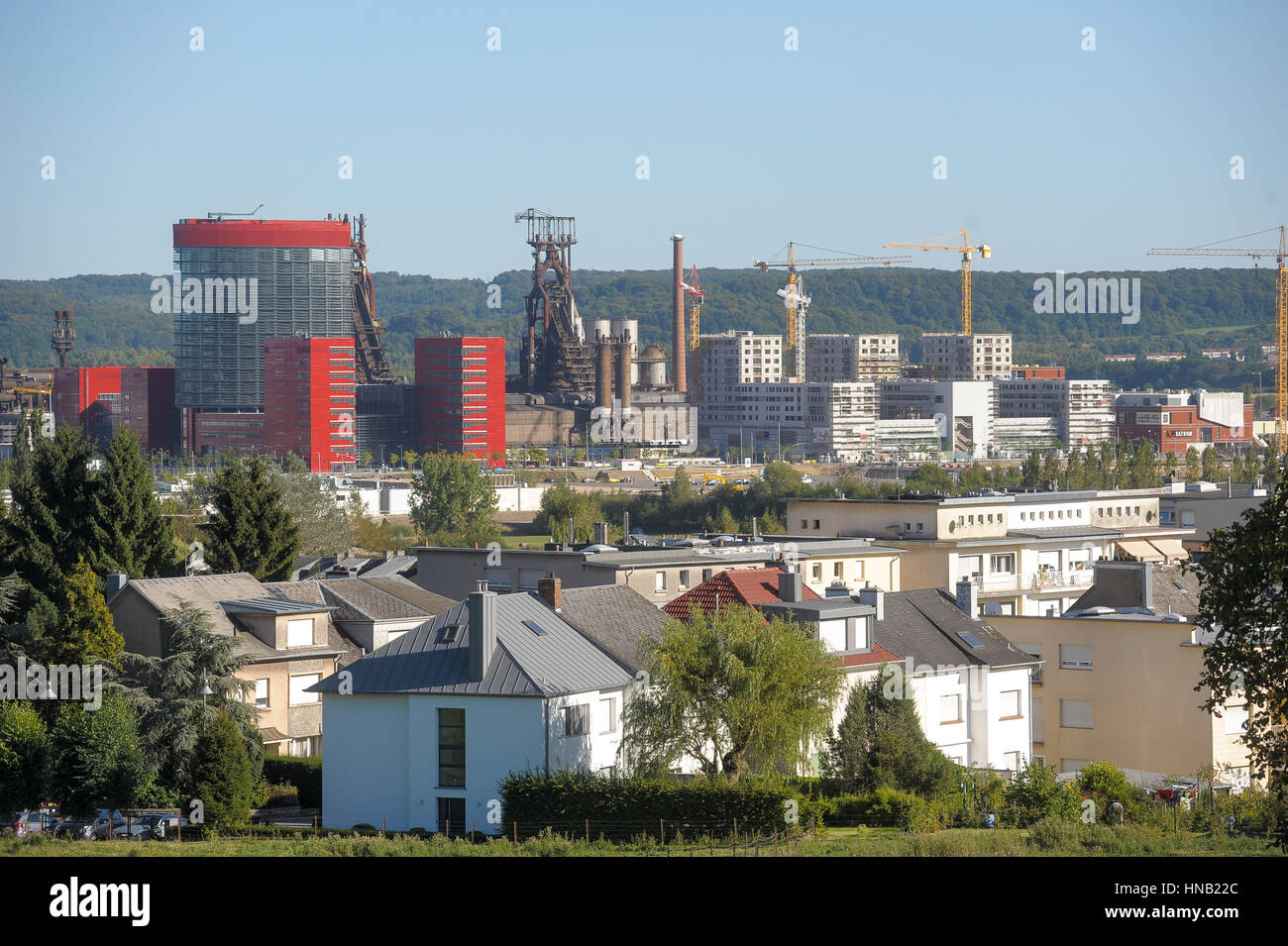 esch sur alzette belval luxembourg view of the new project city of stock photo 133623460 alamy. Black Bedroom Furniture Sets. Home Design Ideas
