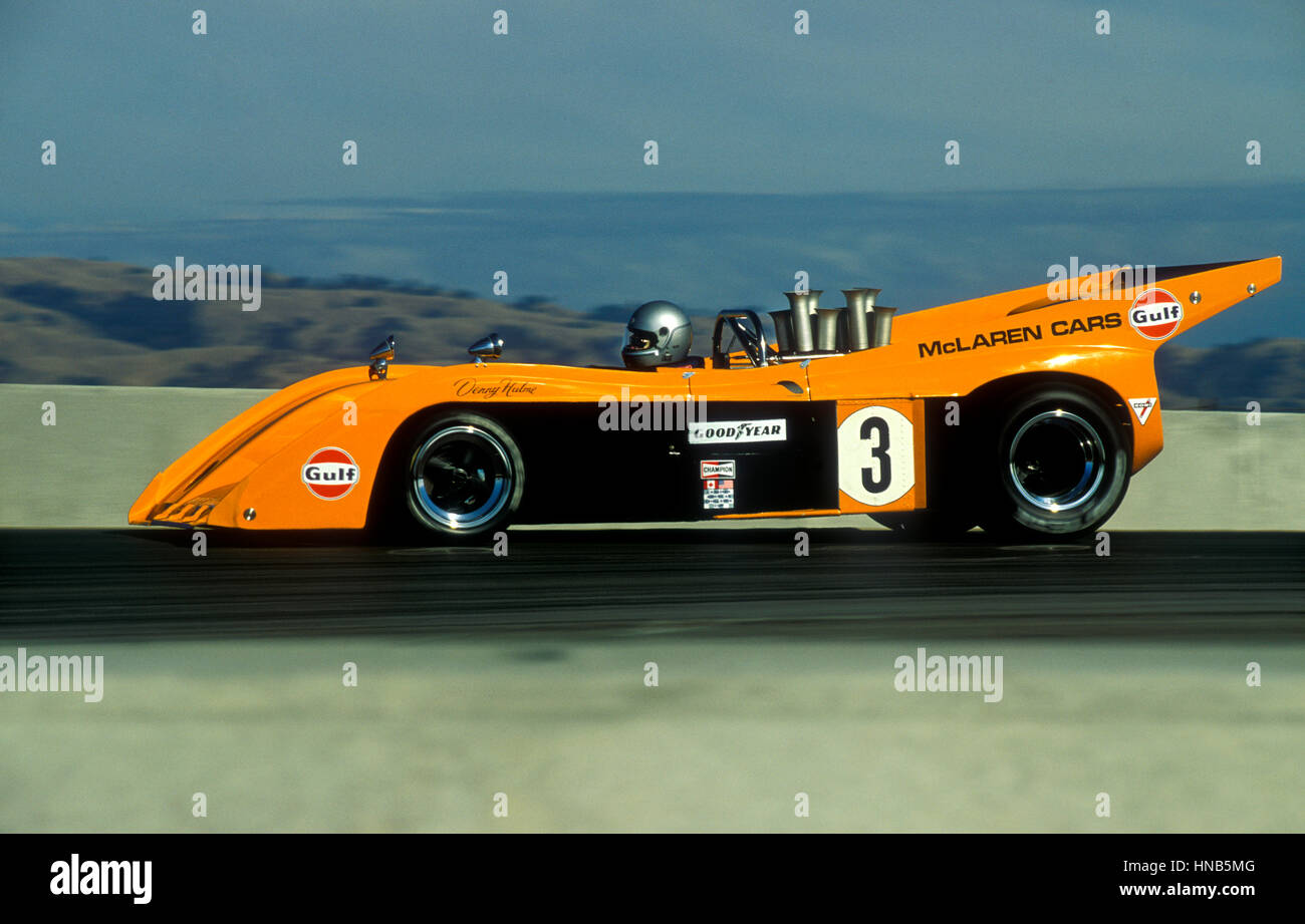 S Denny Hulme Can Am Sports Racing Car Driving At Laguna Seca