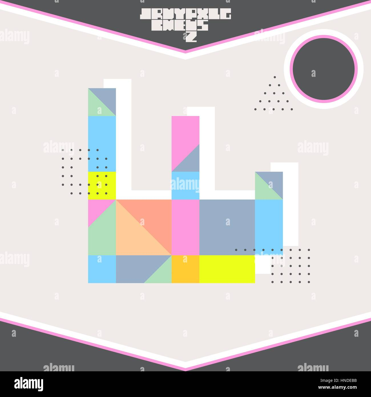 Elements of a poster design - Trendy Card Memphis Style Design Abstract Geometric Elements Layout Template Poster Card