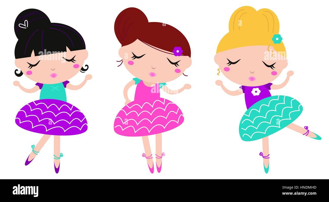 dancing ballerina series cute kids edition stock photo royalty