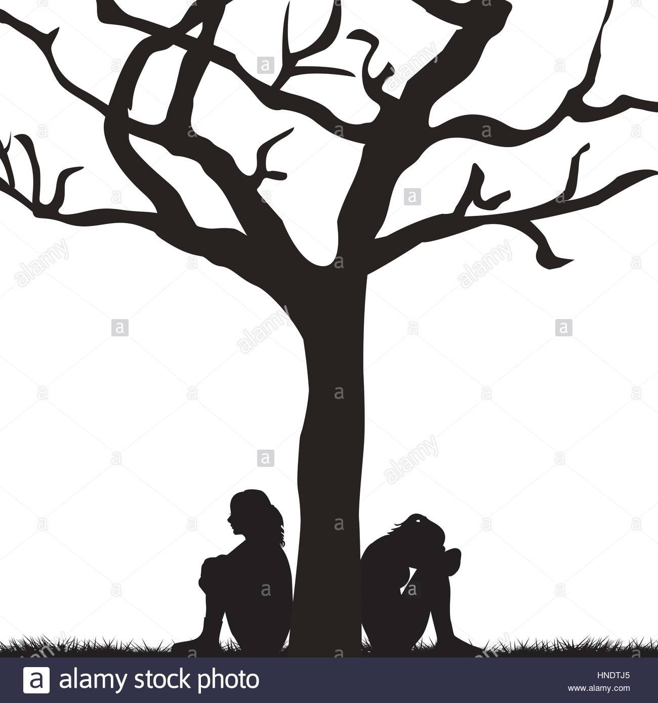 Woman Reading Book Under Tree Stock Image - Image of enjoy