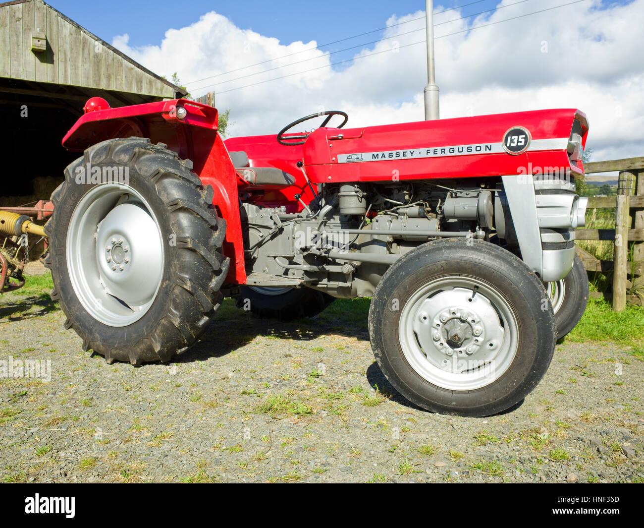 Classic Tractor Massey Ferguson 135 Stock Photo, Royalty