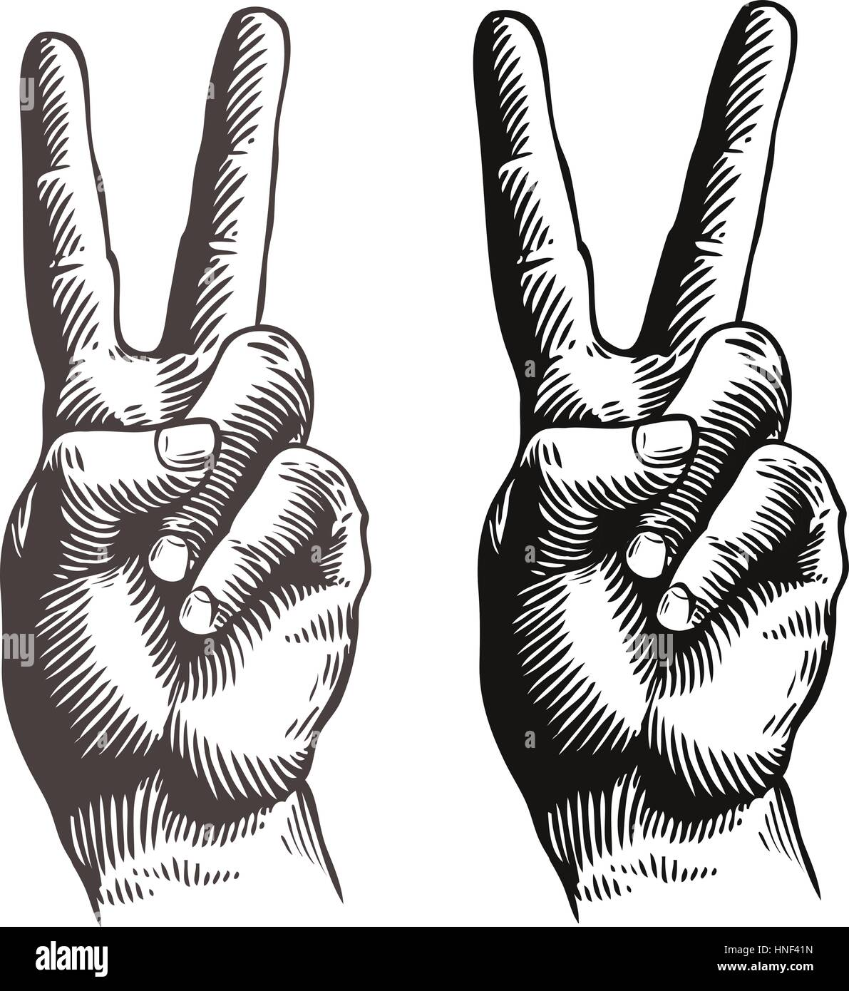 Peace symbol with hands gallery symbol and sign ideas hand gesture peace sign symbol sketch vector illustration stock hand gesture peace sign symbol sketch vector buycottarizona