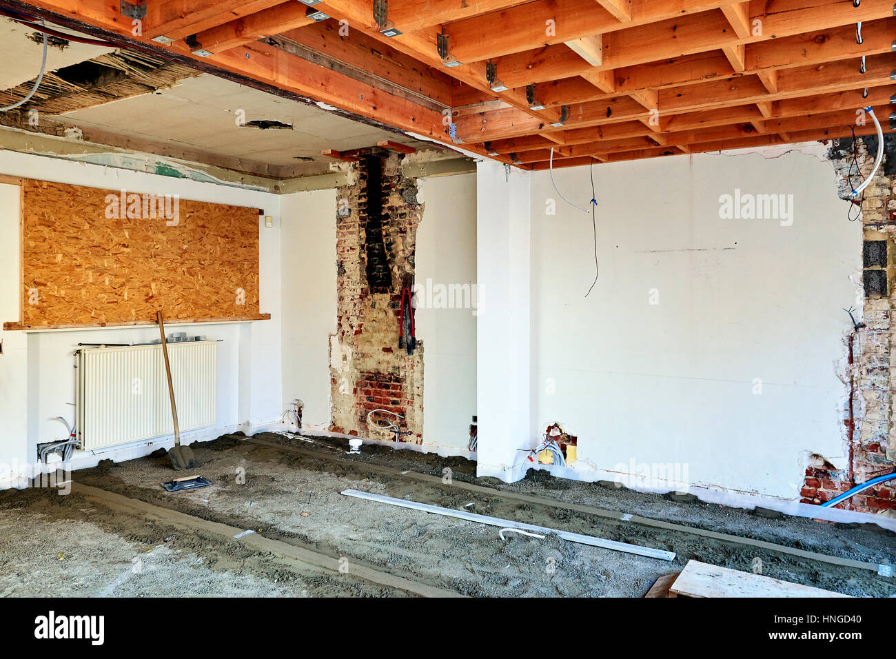 building site interior steps of renovation stock photo royal