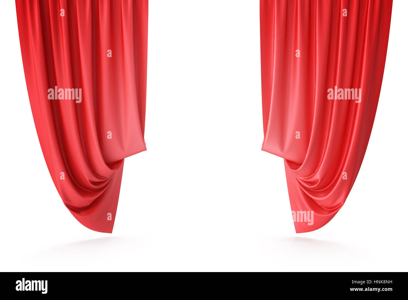 Red velvet curtains stage - Red Velvet Stage Curtains Scarlet Theatre Drapery Silk Classical Curtains Red Theater Curtain 3d Rendering