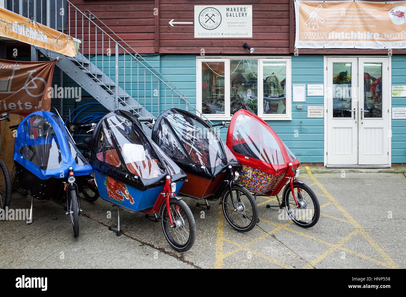 Cargo Bikes For Sale At The Dutchbike Store In Mill Road