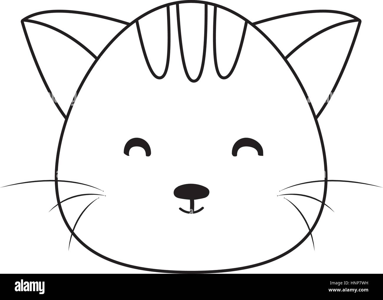 Uncategorized Cat Drawing Face cat drawing face stock vector art illustration image face