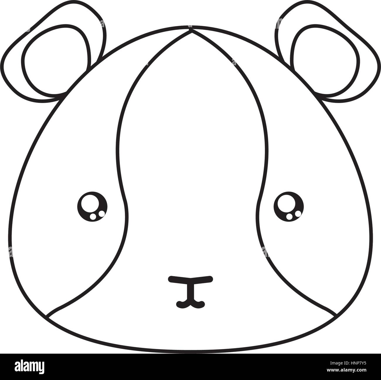 hamster drawing face